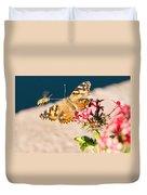 Butterfly's Friend Duvet Cover