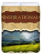 Button - Inspirational Duvet Cover