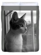 Bw The Inquisitive Kitty Jackson Duvet Cover