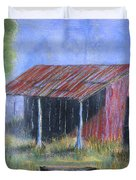 By The Barn Out Back Duvet Cover