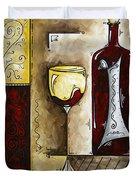 By The Fireside Original Madart Painting Duvet Cover