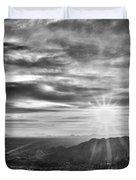 By The Light Of God Duvet Cover