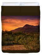 By The Light Of The Sunset Duvet Cover