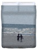 By The Ocean Duvet Cover