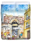 By The Old Cathedral In Cartagena 01 Duvet Cover