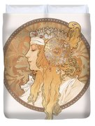 Byzantine Head Of A Blond Maiden Duvet Cover