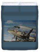 C47b Skytrain Bluebonnet Belle  Warbird 1944 Duvet Cover