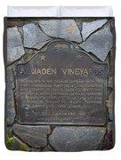 Ca-505 Almaden Vineyards Duvet Cover