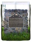 Ca-524 Site Of Juana Briones De Miranda Home On Rancho La Purisima Concepcion Duvet Cover
