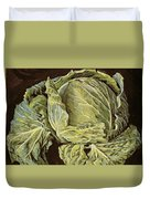 Cabbage Still Life Duvet Cover