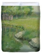 Cabin By The Pond Duvet Cover