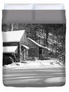 Cabin Fever In Black And White Duvet Cover