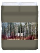 Cabin In The Forest Duvet Cover