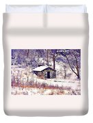 Cabin In The Snow Duvet Cover