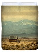 Cabin With Mountain Views Duvet Cover