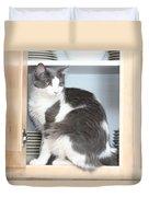 Cabinet Cat Duvet Cover