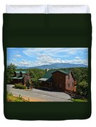 Cabins In The Smokies Duvet Cover