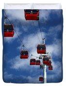 Red Line Cable Car Gondolas Bolivia Duvet Cover