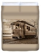 Cable Car In Porto Portugal Duvet Cover