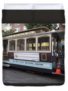 Cable Car Turn-around At Fisherman's Wharf Duvet Cover