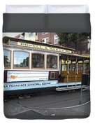 Cable Car Turn-around At Fisherman's Wharf No. 2 Duvet Cover