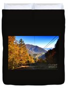 Cableway In Autumn Duvet Cover