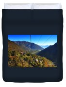 Cableway Over The Mountain Duvet Cover