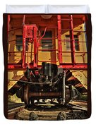 Caboose On The Loose Duvet Cover