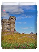 Cabot Tower In Signal Hill National Historic Site In Saint John's-nl Duvet Cover