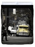 Cabs Here Duvet Cover