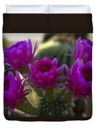 Cacti Flower Bouquet  Duvet Cover
