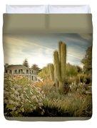 Monterey California Cactus Garden Duvet Cover