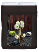 Cactus Blooms Duvet Cover