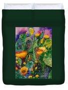 Cactus Flowers Duvet Cover