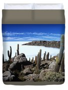 Cactus Forest And Salar De Uyuni Duvet Cover