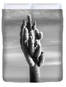 Cactus Island Salt Flats Black And White Duvet Cover