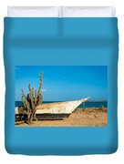 Cactus On A Beach Duvet Cover