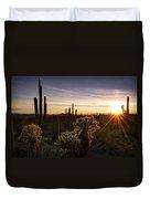 Cactus Sunset  Duvet Cover