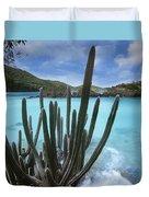 Cactus Trunk Bay  Virgin Islands Duvet Cover