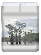 Caddo Lake Cypress Trees Duvet Cover