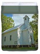 Cades Cove Baptist Church Duvet Cover