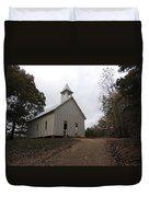 Cades Cove Church Duvet Cover