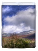 Cades Cove First Dusting Of Snow II Duvet Cover by Debra and Dave Vanderlaan