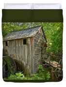 Cades Cove Grist Mill Closeup Duvet Cover
