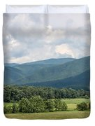 Cades Cove In Summer Duvet Cover by Todd Blanchard