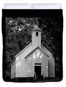 Cades Cove Missionary Baptist Church Duvet Cover