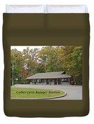Cades Cove Ranger Station Duvet Cover