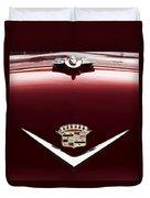 Cadillac Emblem And Hood Ornament Duvet Cover
