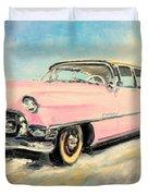 Cadillac Fleetwood 1955 Pink Duvet Cover