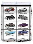 Cadillac La Salle Automotive Poster Duvet Cover
